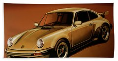 Porsche 911 Turbo 1976 Painting Bath Towel