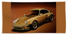 Porsche 911 Turbo 1976 Painting Hand Towel