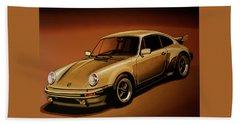 Porsche 911 Turbo 1976 Painting Hand Towel