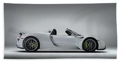 Porsche 918 Spyder Bath Towel by Douglas Pittman