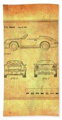 Porsche Blueprint Bath Towel