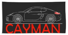 Porsche Cayman Phone Case Bath Towel