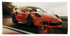 Porsche Gt3 Rs - 4 Bath Towel