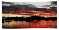 Port Denarau Fiji At Sunrise Hand Towel