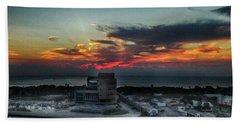 Port Everglades Sunrise Hand Towel by Judy Hall-Folde