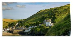Bath Towel featuring the photograph Port Issac Hills by Brian Jannsen