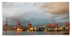 Port Of Vancouver Bc At Sunset Hand Towel