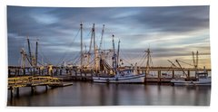 Port Royal Shrimp Boats Hand Towel