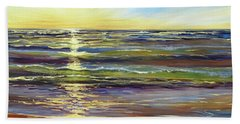 Hand Towel featuring the painting Port Sheldon by Sandra Strohschein