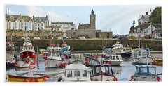 Porthleven Inner Harbour Bath Towel
