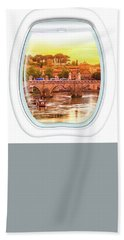 Porthole Windows On Rome Hand Towel