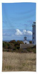 Bath Towel featuring the photograph Portland Bird Observatory by Baggieoldboy