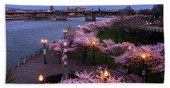 Portland Cherry Blossoms Bath Towel