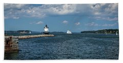 Portland Harbor, Maine Bath Towel