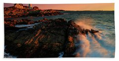 Bath Towel featuring the photograph Portland Head First Light  by Emmanuel Panagiotakis
