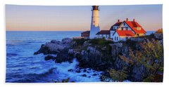 Portland Head Light II Hand Towel by Chad Dutson
