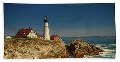 Portland Head Lighthouse 2 Hand Towel by Sherman Perry