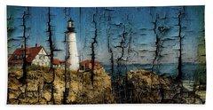 Portland Head Lighthouse 5 Hand Towel by Sherman Perry