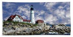 Portland Head Lighthouse Bath Towel