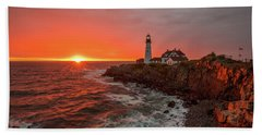 Portland Head Sunrise Bath Towel