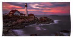 Portland Head Sunset Hand Towel