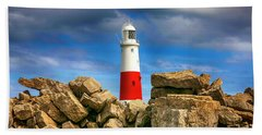 Portland Lighthouse, Uk Hand Towel by Chris Smith