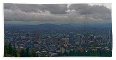 Portland Overlook Hand Towel by Jonathan Davison