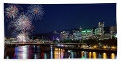 Portland Rose Festival 2017 Fireworks Bath Towel