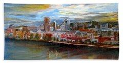 Portland Waterfront From Broadway Bridge Bath Towel