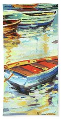 Hand Towel featuring the painting Portofino Passage by Rae Andrews