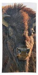 Portrait Of A Buffalo Bath Towel by Nancy Landry