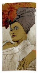 Portrait Of A Caribbean Beauty Hand Towel