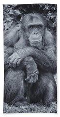 Portrait Of A Chimp Bath Towel
