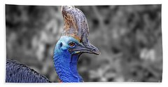 Portrait Of A Double-wattled Cassowary II Altered Version Hand Towel