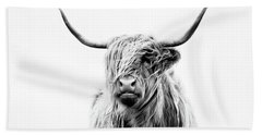 Portrait Of A Highland Cow Hand Towel