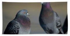 Portrait Of A Pigeon Bath Towel by Lora Lee Chapman