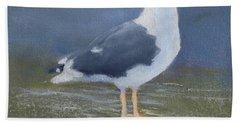 Portrait Of A Seagull Bath Towel