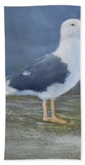 Portrait Of A Seagull Hand Towel