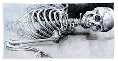 Portrait Of A Skeleton Hand Towel