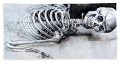 Portrait Of A Skeleton Bath Towel