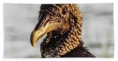 Portrait Of A Vulture Bath Towel