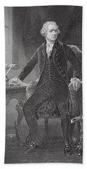 Portrait Of Alexander Hamilton Bath Towel