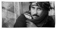 Portrait Of An Arab Man Bath Towel