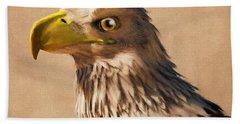 Bath Towel featuring the digital art Portrait Of An Eagle by Daniel Eskridge