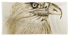 Portrait Of An Eagle Hand Towel