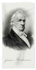 portrait of Buchanan as President Hand Towel