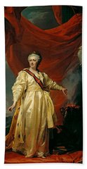 Portrait Of Catherine II The Legislatress In The Temple Devoted To The Godess Of Justice Bath Towel
