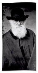Portrait Of Charles Darwin Hand Towel