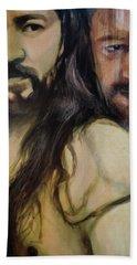 Portrait Of Cristo Soto Bath Towel by Ron Richard Baviello