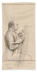 Portrait Of George Stubbs By James Bretherton Hand Towel